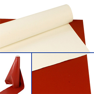 Heat Shrink Tunnel Curtain Material / Silicone Glass Cloth