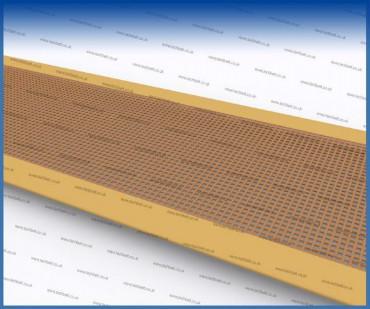 conveyor belt tracking - teflon edging
