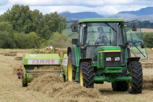 Claas Baler belt being used in field