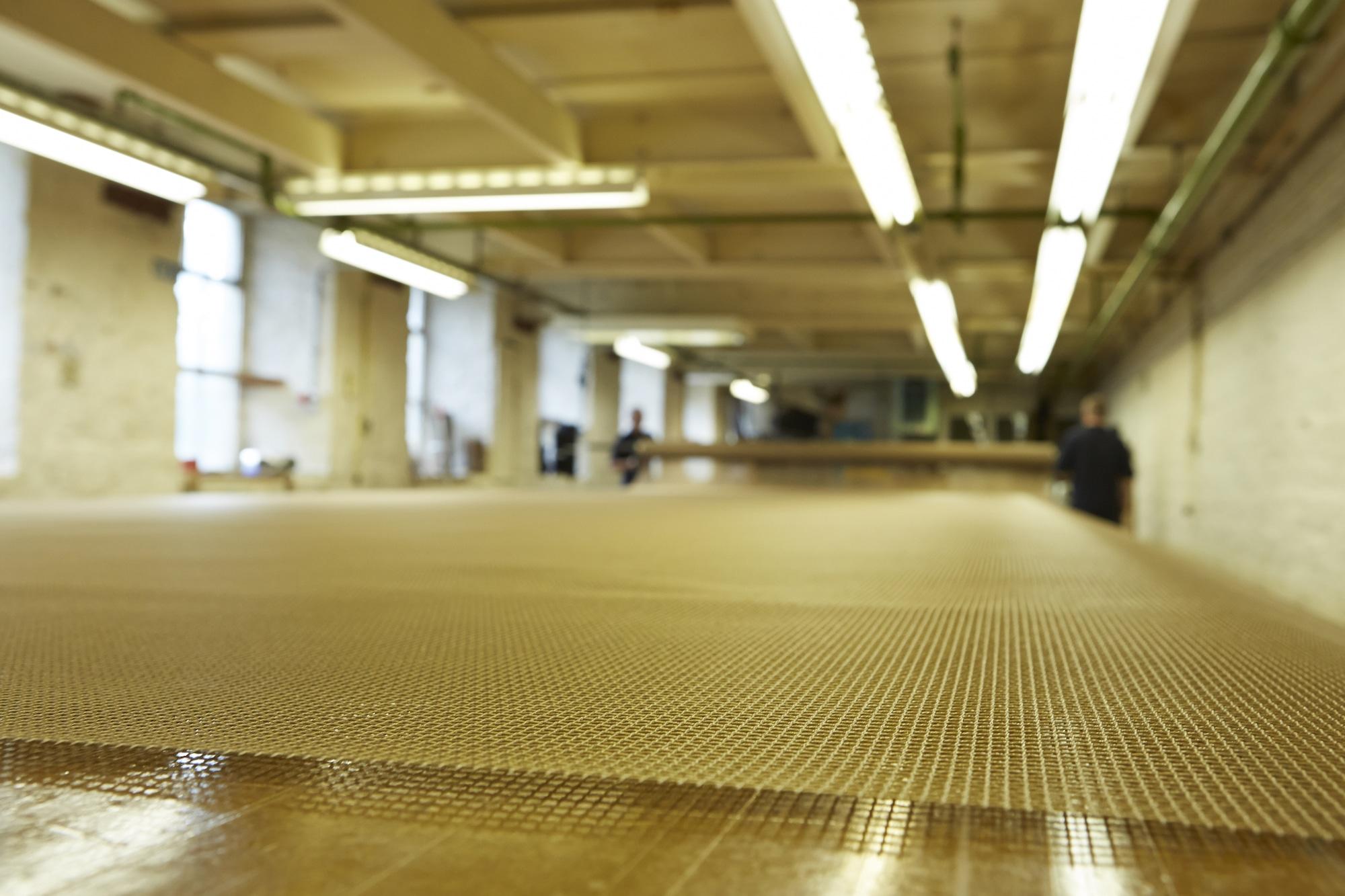 Pasta steaming belt & completed dewatering conveyor belt