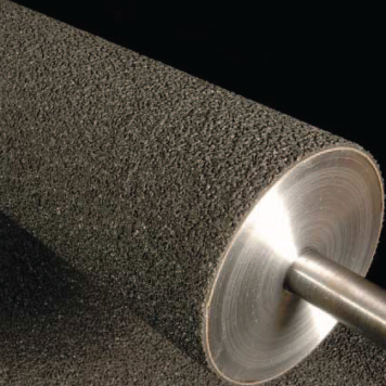 Conveyor belt roller covering - Thick course grit
