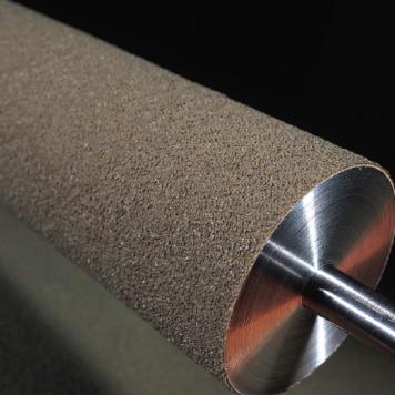 Soft Grit Pattern Conveyor belt roller covering