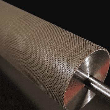 Conveyor Belt Roller Laggings - Flat Topped Sharp Edged Pimples