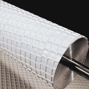 Conveyor Belt Roller Laggings - Waffle Pattern