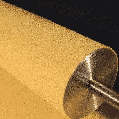 Conveyor Belt Roller Laggings - High Temperature Grit